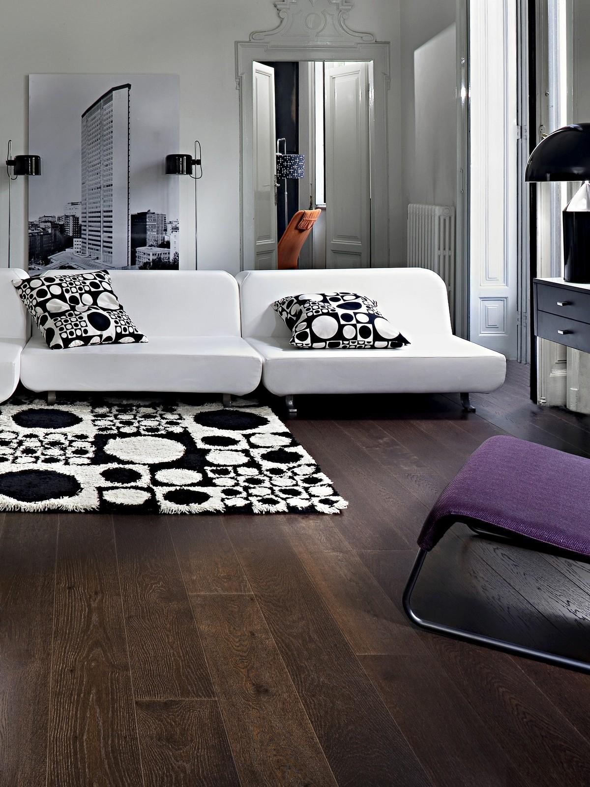 Parchet triplustratificat Stejar Nouveau Black